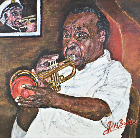 Jazz Portrait of legendary Dave Bartholomew at The Palm Court, New Orleans