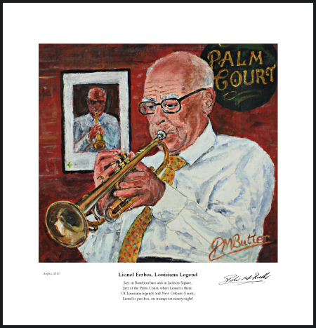 Jazz&Jazz fine art print of Portrait of Lionel