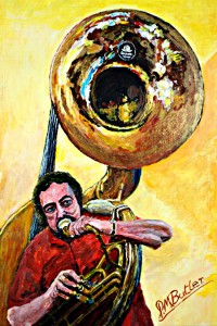 My Jazz Portrait of Gerry Birch on Sousaphone