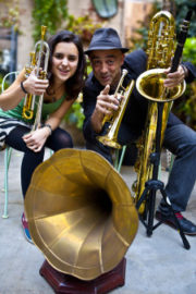 Joan Chamorro with his protege Andrea Motis