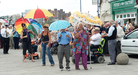 Betty leads the 2011 Brolly Parade