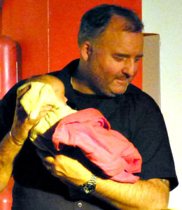 Proud Uncle Emile with Ben & Eryn's beautiful new born daughter Lorelai making her very first stage debut!