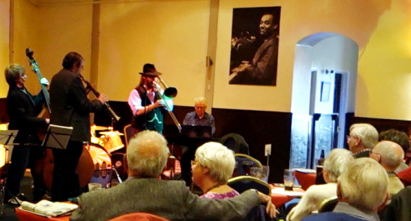 """Kid Meets Sid"" at Tad Newton's Walnut Jazz Club, Blisworth, Northants"