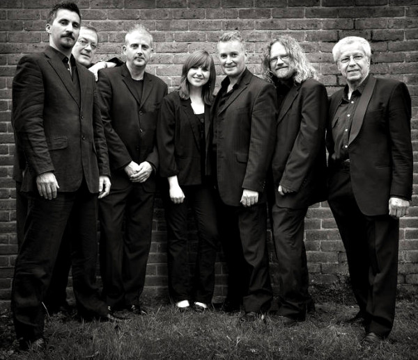 LtoR: Ben Cummings (trumpet); Ian Bateman (trombone); Nick Millward (drums); Amy Roberts (clarinet, flute and saxophones); Richard Exall (clarinet and saxophones); Craig Milverton (piano); Bill Coleman (bass)