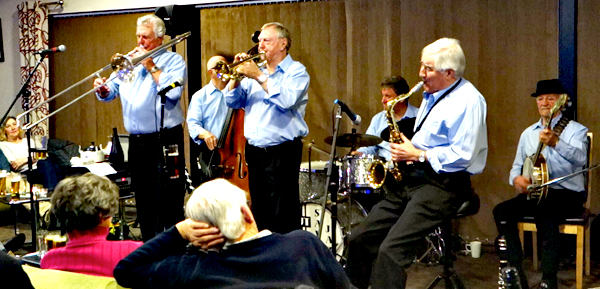 "Barry Palser's Super Six Jazz Band celebrating ""Dixieland to The Duke"" at Bedford Jazz Club"