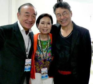Yoshio and Keiko with Erumasa Hino  Japanese Jazz Trumpeter