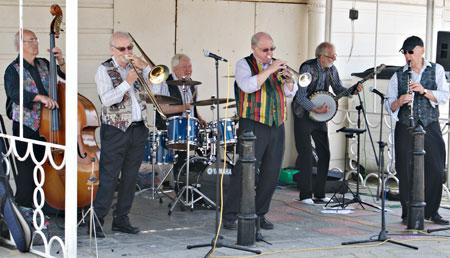 With Burt Butler's Jazz Pilgrims - Bring you brollies!