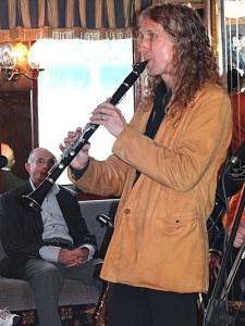 Julian displays intensity under the watchful eye of top jazz fan Peter Marr