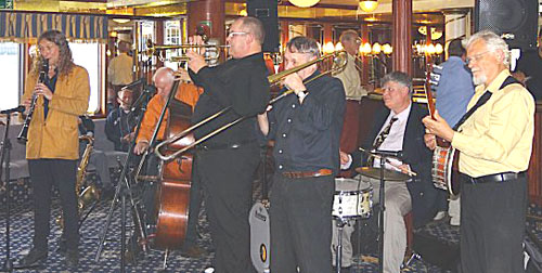 John and Trefor combine bands