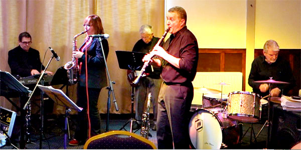 Amy and Richard with John Watson, drums; Bill Coleman, bass and Alan Haughton guesting on keyboard,