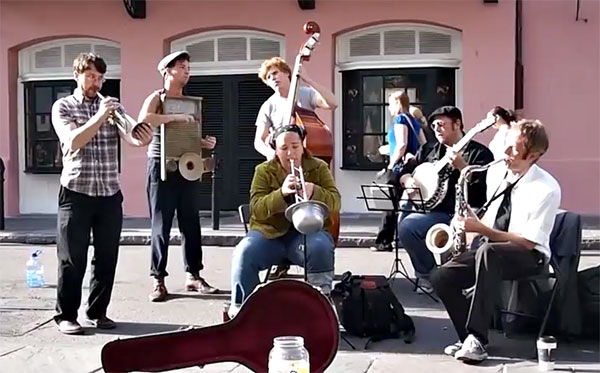 Shot Gun Jazz Band live on Royal Street