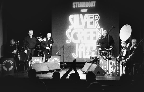 On stage at Astor Community Theatre, Stanhope Road, Deal, Kent