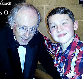 Reece with Chris Barber, one of his heroes and mentors.