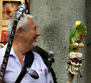 Alan Bradley's Parrot joined the band!