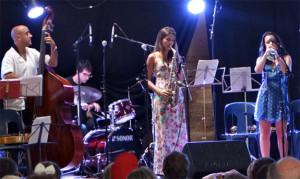 Joan Chamorro, Eva Fernandes and Andrea Motis, Fest Jazz, 2014