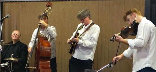 Ben Holder (violin), Malcom Garrett (drums). Paul Jeffries (bass), Jez Cook (guitar)