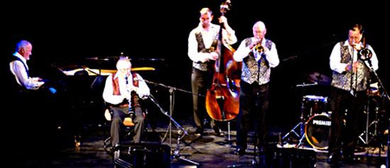 Ian with Acker Bilk's Paramount Jazz band