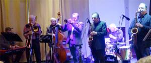 Tad Newton's Jazzfriends starring Gary Wood [trumpet], Ronnie Fenn [drums], Tad Newton [trombone], Alan Haughton [piano], Bill Coleman [bass], Frank Griffith [sax] PLUS Special Guest Greg Abate (sax).