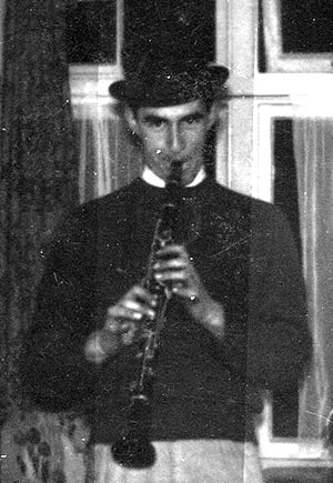 "Roger Pout and have been firm friends since our school years in Herne Bay. We got into jazz together in our late teens. This is one of my very early attempts at ""jazz photography""."